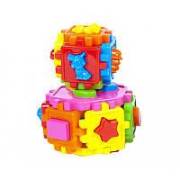 Кубы логические 2шт 50-106, детская развивающая игрушка, сортер, кубик, игра
