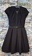 Школьный сарафан подростковые платье Зоряна 134, 140, 146, 152см чёрный