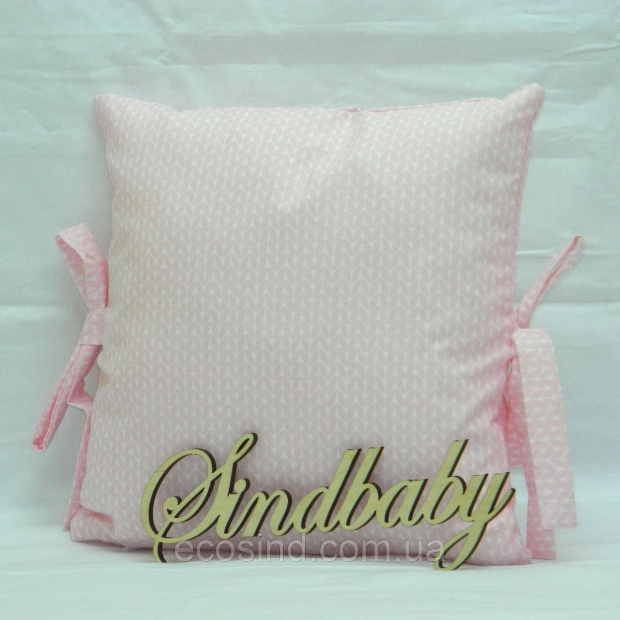 Бортики подушки в кроватку, Подушка сатин 30х30 -11
