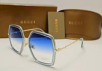 Женские солнцезащитные очки Gucci 0106 Copy (голубой), фото 1
