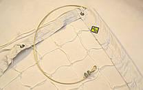 """Волейбольная сетка с тросом D 2,5мм., 10см. ячейка для волейбола обшита с 4 сторон """"Эконом 10 норма"""""""