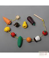 """Игра шнуровка """"Овощи и фрукты"""""""