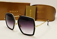 Женские солнцезащитные очки Gucci 0106 Copy (Черный цвет), фото 1