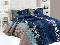 Комплект постельного белья First Choice Satin Cotton семейный Eylul petrol