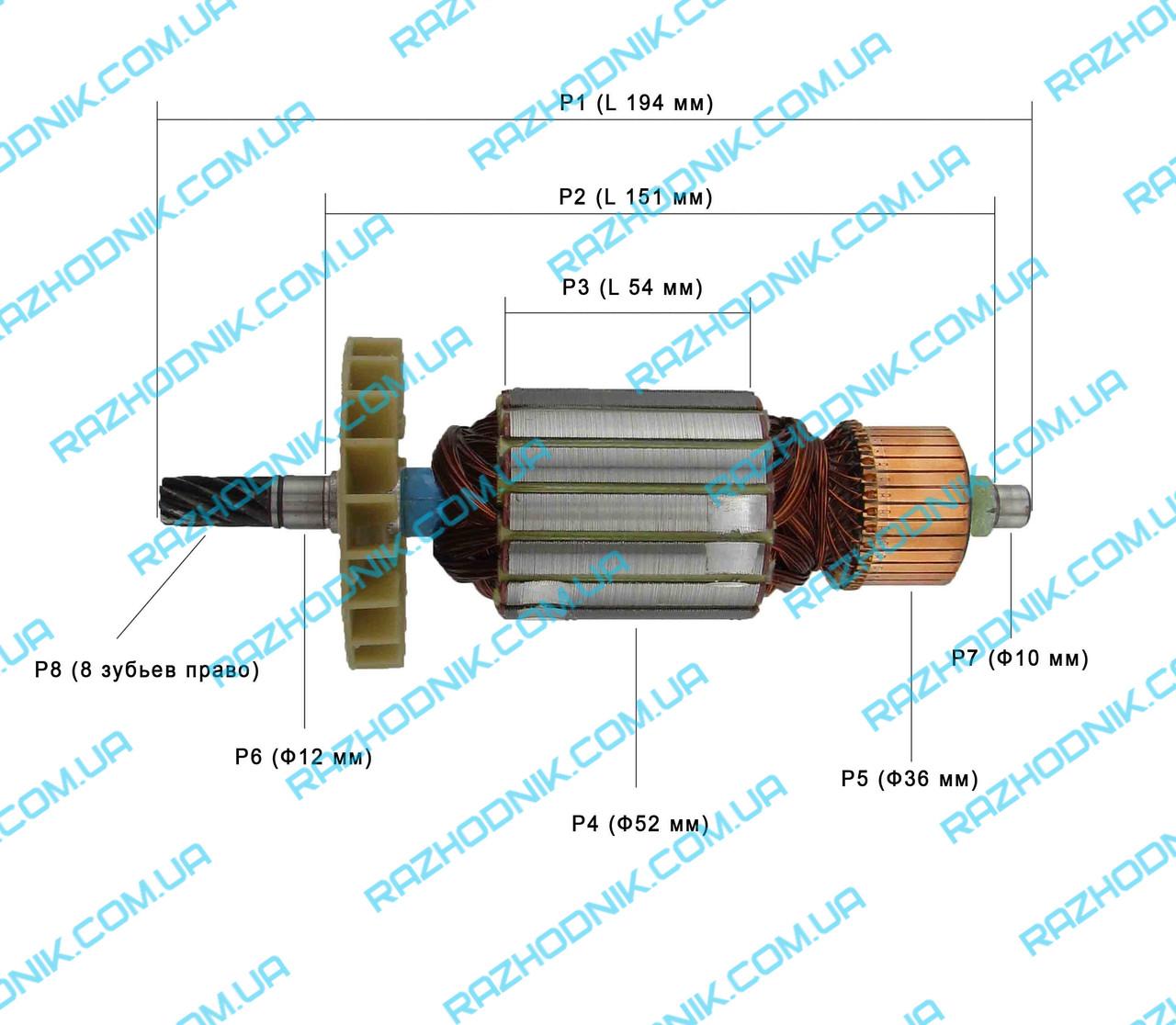 Якорь на дисковую пилу ВИТЯЗЬ ПД-2200/Forte CS 200 TS