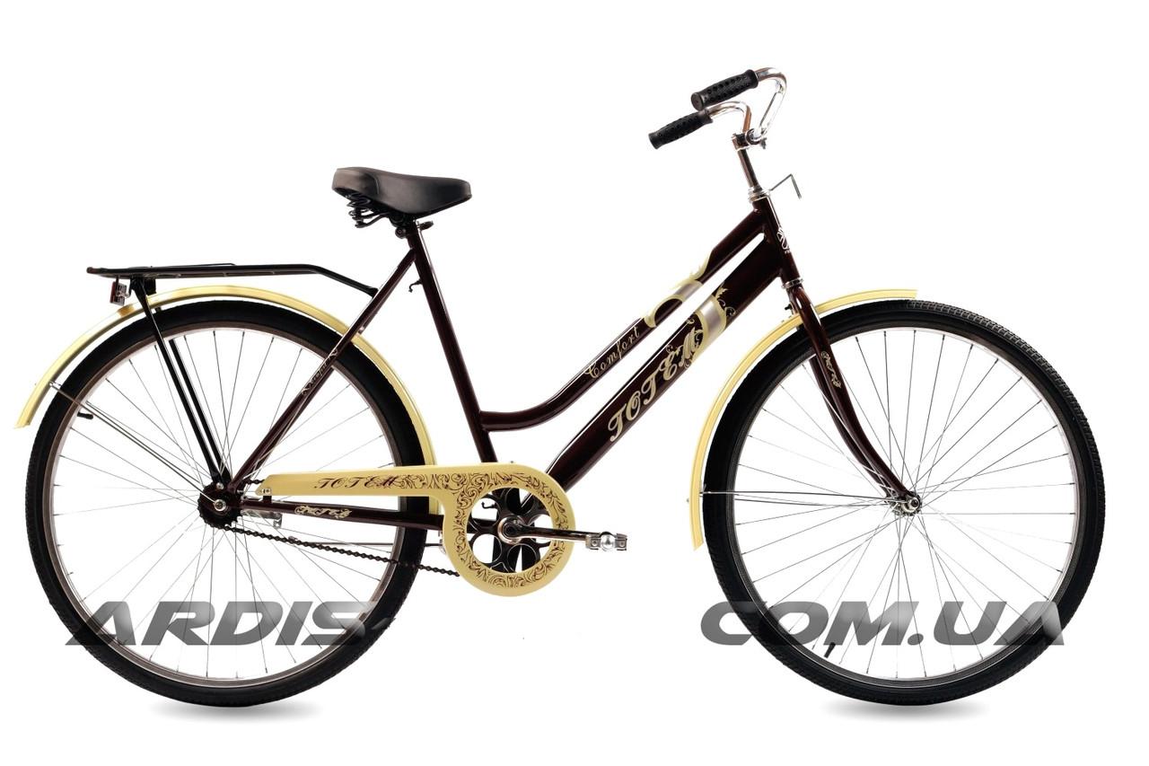 """Городской велосипед TOTEM COMFORT D 28"""" 22""""  коричневый/Бежевый"""