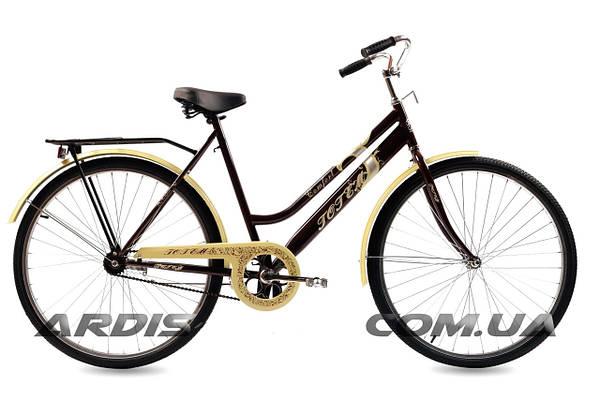 """Городской велосипед TOTEM COMFORT D 28"""" 22""""  Черный/Бежевый"""