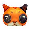 Мягкая игрушка-антистресс Кот глазастый, рыжий