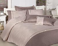 Комплект постельного белья First Choice VIP Satin Евро Henna ekru