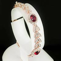 Красивый браслет с кристаллами Swarovski, покрытый слоями золота 0725