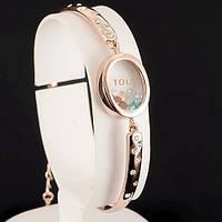 Пленительный браслет с кристаллами Swarovski, покрытый слоями золота 0735
