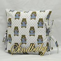 Бортики подушки в кроватку, Подушка бязь 30х30 -78