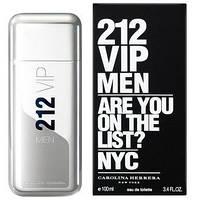 Мужская туалетная вода Carolina Herrera 212 VIP Men (Каролина Хирера 212 Вип Мэн) 100 мл