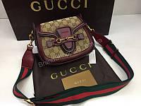 Брендовая сумочка Gucci Lux из натуральной кожи в коробке 1768, фото 1