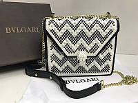 Женская сумочка  Bvlgari Lux из натуральной кожи 1766, фото 1