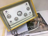 Новинка!Стильная сумочка Fendi Lux натуральная кожа в белом цвете в полном комплекте 1778, фото 1