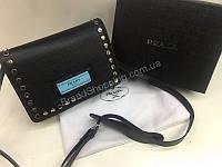 Оригинальная женская сумочка Prada Lux полный комплект  в черном цвете 1781