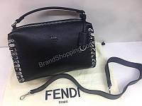 Новинка! Шикарная женская сумочка Fendi Lux  в черном цвете 1788, фото 1