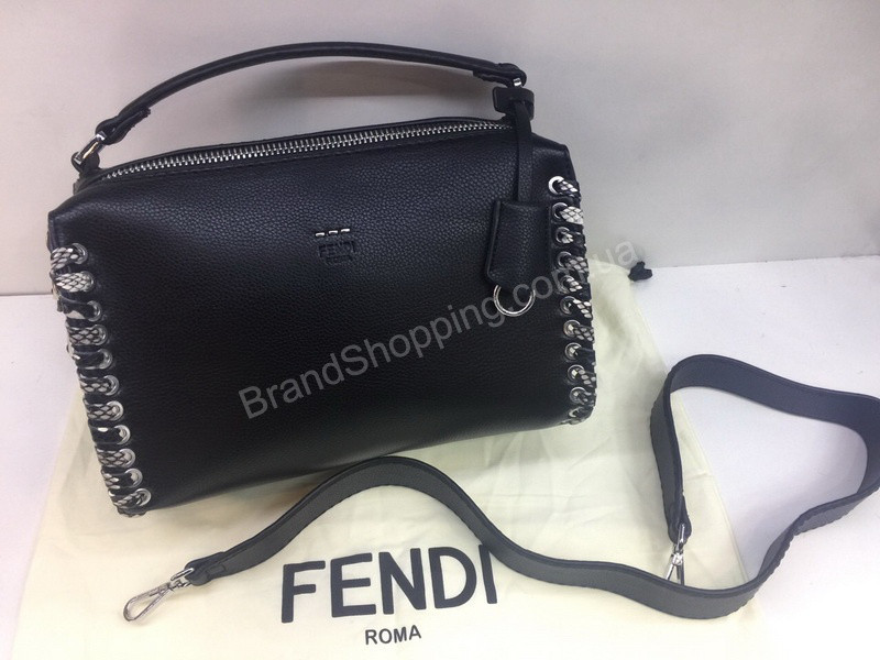 0d64fa8953ea Новинка! Шикарная женская сумочка (сумка ) Fendi Lux в черном цвете 1788 -  Trendshops