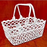 Плетеная корзинка свадебная (под лепестки цветов) 3587-2, ручная работа