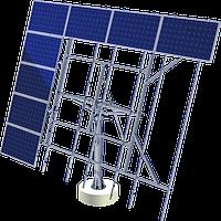 Наземная динамическая одноосная система креплений USSolar серия AS-Sunflower