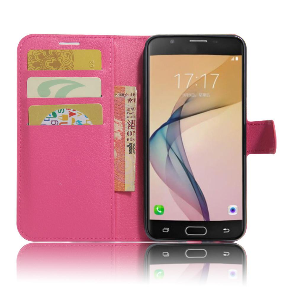 Чехол IETP для Samsung Galaxy J5 2016 J510 книжка кожа PU малиновый