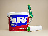 Матовая краска Aura Mattlatex 10л + валик в подарок