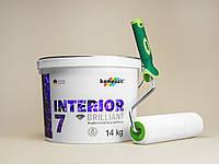 Стойкая к мытью краска Kompozit Interior 7 14кг + валик в подарок