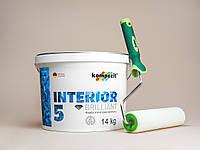 Снежно-белая краска Kompozit Interior 5 14кг + валик в подарок