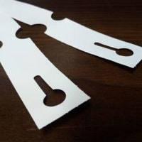 Этикетки-петельки пластиковые 1,27х16см белые 100шт