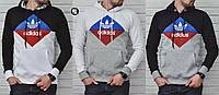 Мужской свитшот-кенгуру Adidas Originals Blue/Red 3 цвета в наличии