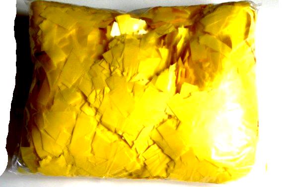 Конфетти Метафан жёлтый. Вес:250гр.