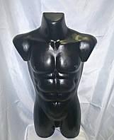 Манекен черный мужской торс, фото 1
