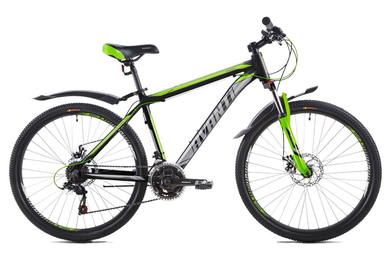 """Горный велосипед AVANTI SMART 26""""  21""""  Черный / Зеленый"""