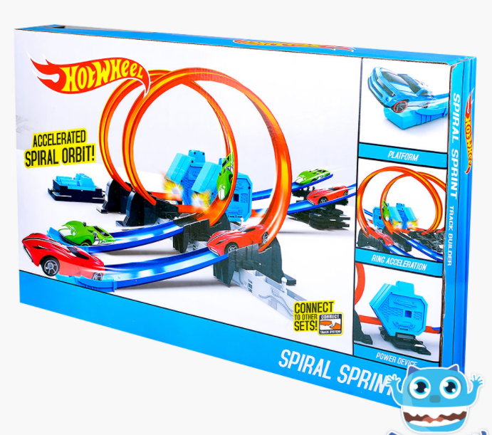 Детский трек Hot Wheels ГОНКА ПО СПИРАЛИ + 2 МАШИНКИ