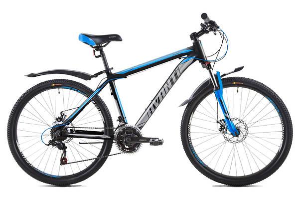 """Горный велосипед AVANTI SMART 26"""" 19""""Черный / Синий"""