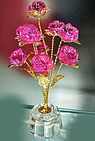 "Сувенир, подарок  "" Букет из пяти роз"" 14 см"