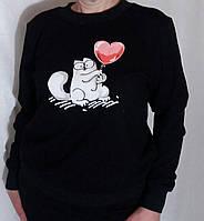 Костюм спортивный с котом Костюм з двонитки однотонний різні кольори з розписом ручної роботи