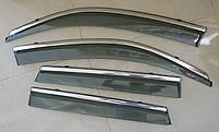 VITARA 2016 ветровики с молдингом нерж сталь