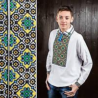 Мужская сорочка вышиванка на домотканом полотне