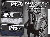 Трусы мужские боксеры х/б Emporio Armani, ассорти, размер XL (50-52), 03235