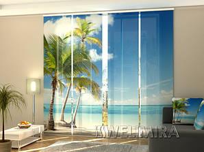 "Панельные Фото шторы ""Замечательные пальмы"" 240 х 240 см"