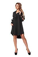 Платье-рубашка из костюмного крепа  1051