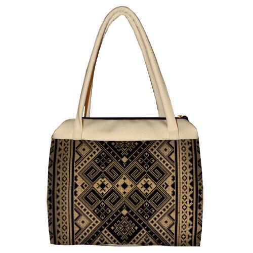 Женская большая сумка Сатчел с принтом Орнамент