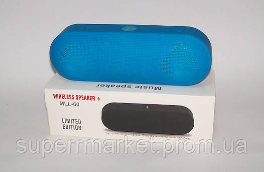Блютуз колонка Mll-60 wireless speaker, синяя, фото 2