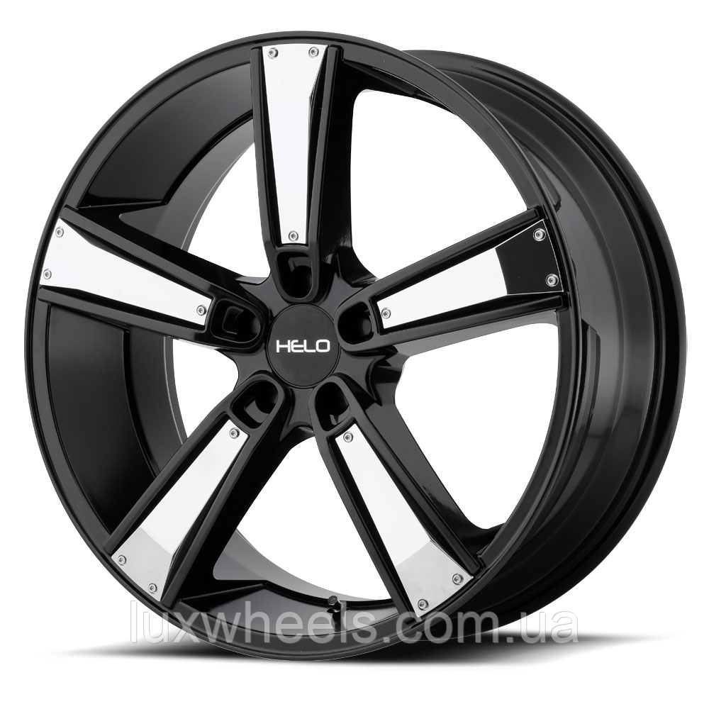 HELO HE899 Satin Black with Gloss Black & Chrome Inserts