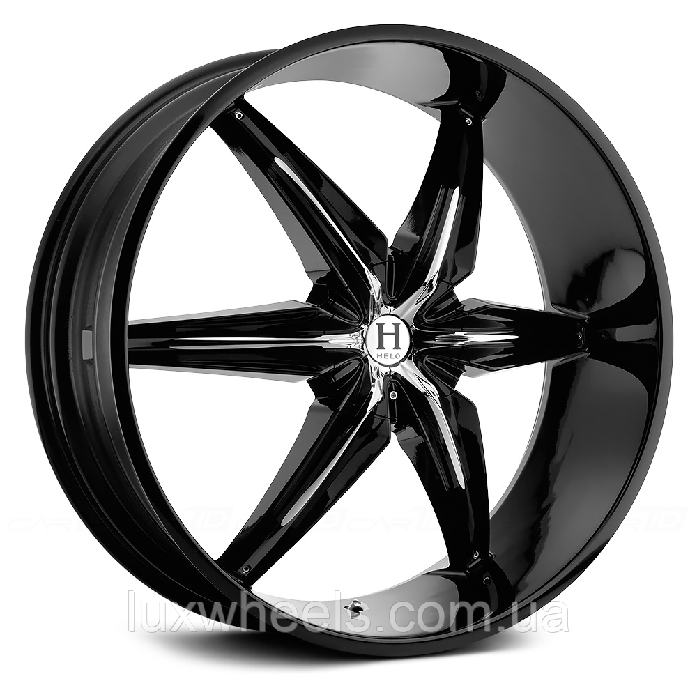 HELO HE866 Gloss Black with Chrome Inserts