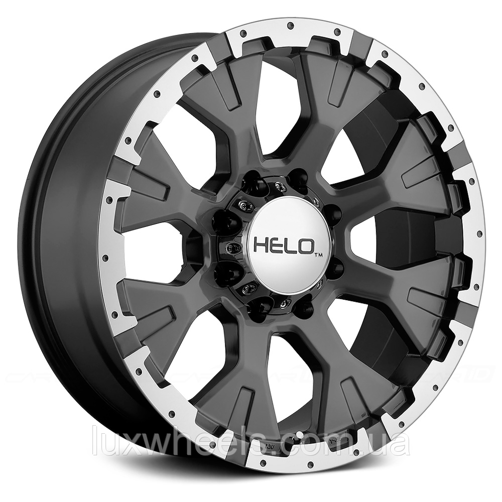 HELO HE878 Dark Silver with Machined Face