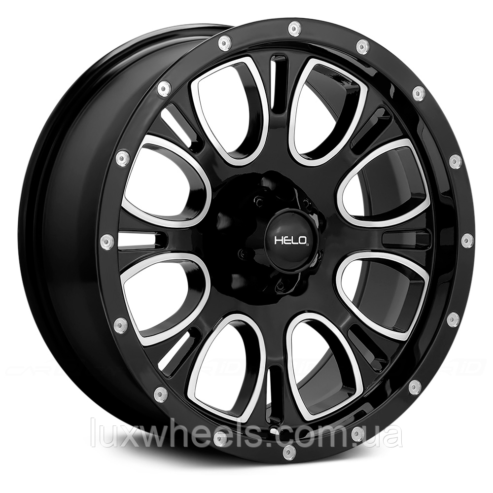 HELO HE879 Gloss Black with Milled Accents