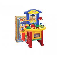 """Игрушка """"Кухня 3 ТехноК"""", арт. 2124, детский игровой набор для девочек, посудка, плита"""